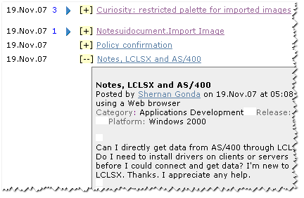 LDDMonkey working on the Notes.Net view