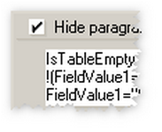 Hide-when formulas