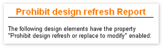 Prohibit design refresh or replace Reporter