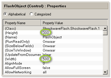 Flash Player Object Properties