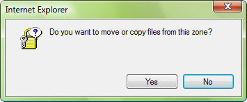 Do you want to move or copy files from this zone?
